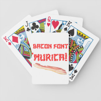 Bacon Font Murica Poker Deck