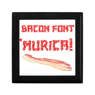 Bacon Font 'Murica! Small Square Gift Box