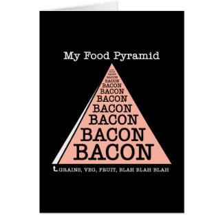 Bacon Food Pyramid Card