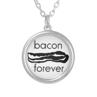 Bacon Forever Silver Plated Necklace