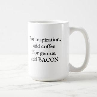 Bacon genius coffee mug