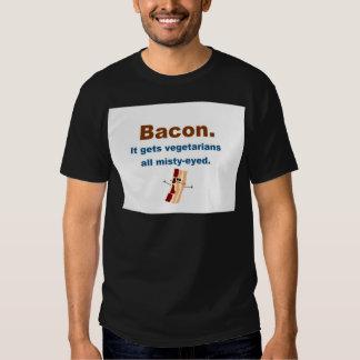 Bacon gets vegetarians misty-eyed tee shirt