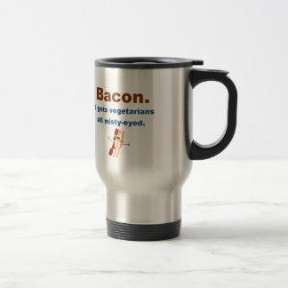 Bacon gets vegetarians misty-eyed travel mug