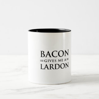 Bacon Gives Me A Lardon Two-Tone Coffee Mug