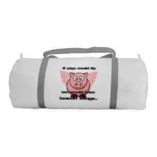 bacon gym bag