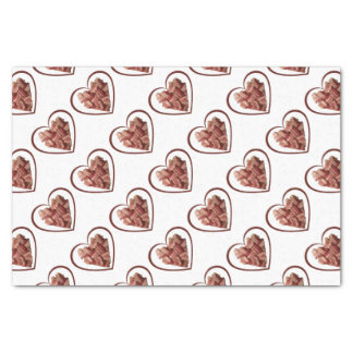 Bacon Heart Tissue Paper