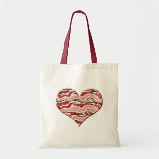 Bacon Hearted Budget Tote Bag