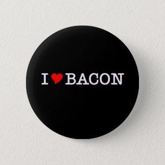 Bacon I Love 6 Cm Round Badge