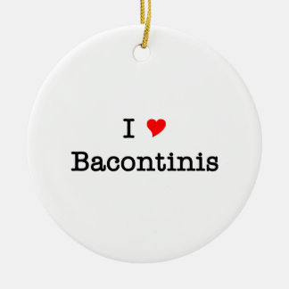 Bacon I Love Bacontinis Round Ceramic Decoration