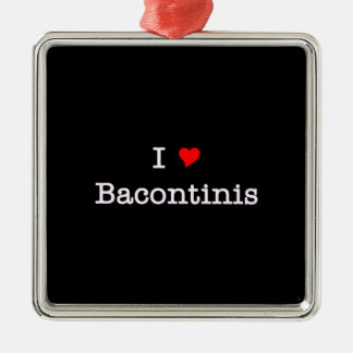 Bacon I Love Bacontinis Silver-Colored Square Decoration