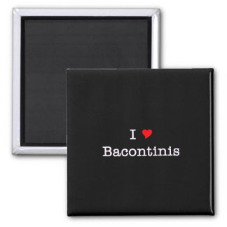 Bacon I Love Bacontinis Square Magnet
