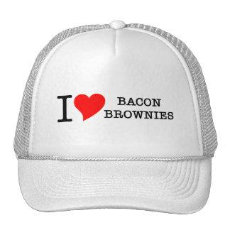Bacon I Love Brownies Mesh Hat