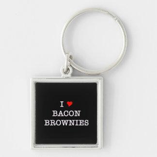 Bacon I Love Brownies Key Ring