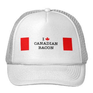 Bacon I Love Canadian Trucker Hat