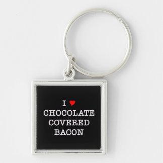 Bacon I Love Chocolate Key Ring