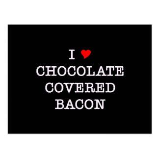 Bacon I Love Chocolate Postcard