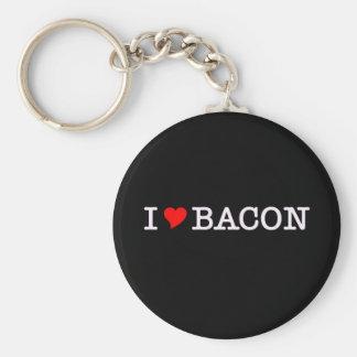 Bacon I Love Key Ring