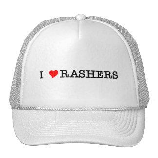Bacon I Love Rashers Mesh Hats