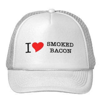 Bacon I Love Smoked Trucker Hat