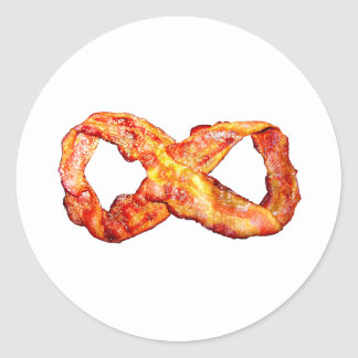 Bacon Infinity Classic Round Sticker