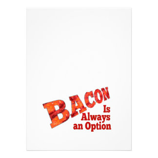 Bacon is Always an Option Personalized Invitation