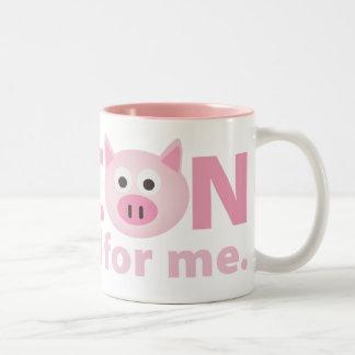 Bacon is Good for Me Two-Tone Mug