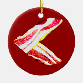 Bacon Is Greater Than . . . Round Ceramic Decoration