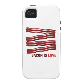Bacon Is Love iPhone 4/4S Covers