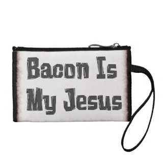 Bacon Is My Jesus Coin Purses