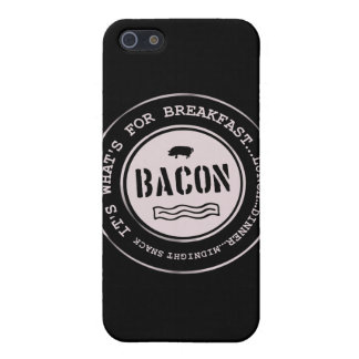 Bacon It's What's For Breakfast Lunch Dinner iPhone 5 Cases