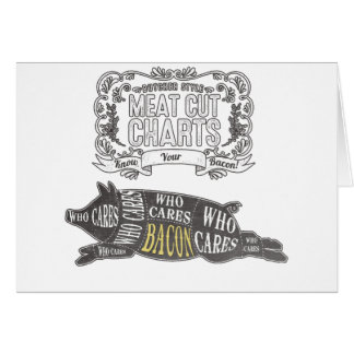 BACON Know Your Cuts of Meat Greeting Card