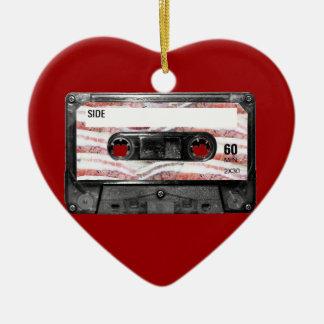 Bacon Label Cassette Ceramic Heart Decoration