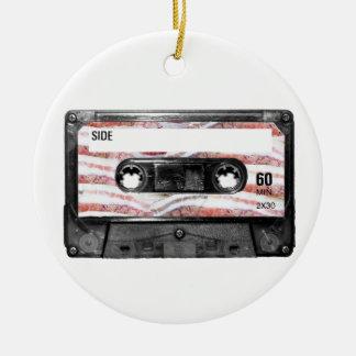 Bacon Label Cassette Round Ceramic Decoration