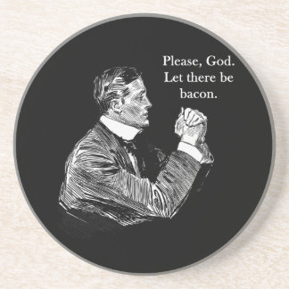 Bacon Let There Be Coaster