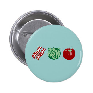 Bacon Lettuce & Tomato - The BLT! 6 Cm Round Badge
