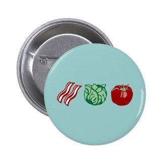 Bacon Lettuce & Tomato - The BLT! 6 Cm Round Badge