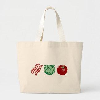 Bacon Lettuce & Tomato - The BLT! Large Tote Bag