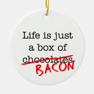 Bacon Life is Just Double-Sided Ceramic Round Christmas Ornament