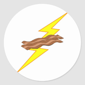Bacon Lightning Round Stickers