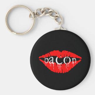 Bacon Lips Key Ring