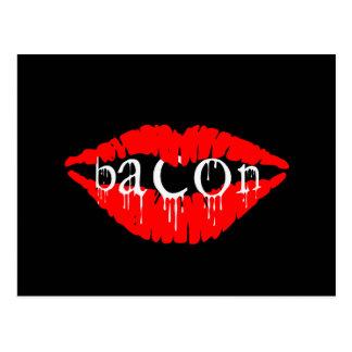 Bacon Lips Postcard