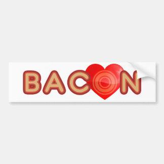 Bacon LOVE Car Bumper Sticker