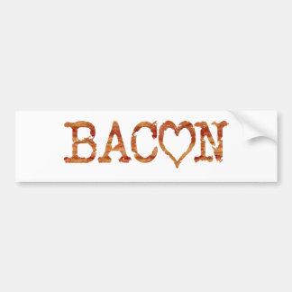 Bacon LOVE Bumper Sticker