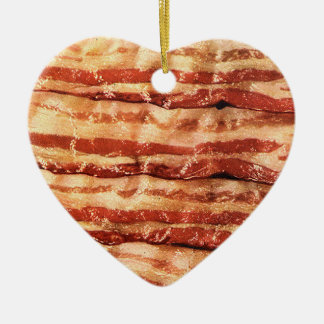 bacon love heart ornament