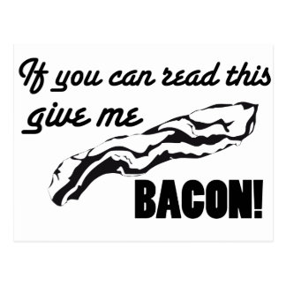 Bacon lover postcard