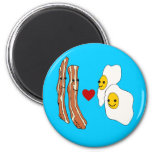 Bacon Loves Eggs Funny Bacon Design Magnets