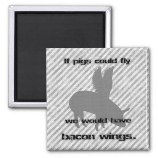 bacon 2 inch square magnet