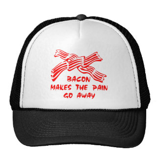 Bacon Makes The Pain Go Away Mesh Hats