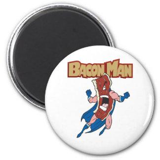 Bacon Man 6 Cm Round Magnet