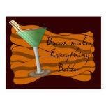 Bacon Martini Recipe Card Postcards